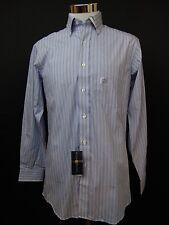 Club Room Regular Fit Dress Shirt Blue Stripe Size 14.5 32/33 Cotton #1680