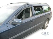 Volvo V70 2000 - 2007 Front wind deflectors 2pc set TINTED HEKO