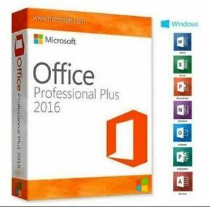 Microsoft Office Professional Plus 2016 Retail Key plus download link