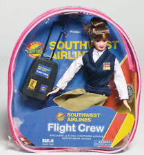 "Flight Attendant Doll Southwest Airlines 11"" Brunette Backpack & Accessories SWA"