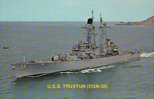U.S.S. Truxtun Nuclear Powered Guided Missile Cruiser --- Military Navy Postcard