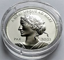 2021 Canada PAX Peace Dollar 1 oz .9999 High Relief Silver Proof Coin.