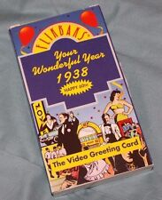 Flikbaks - Your Wonderful Year 1938 - Video Greeting Card VHS Tape 1991