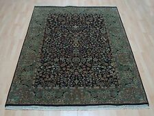 High Quality Persian Egg Plant Hand Knotted 100% Wool Modern Carpet Rug 5.6X8'