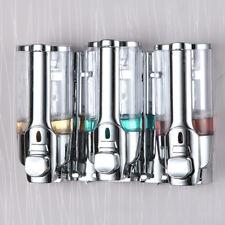 3x 350ml Wall Mount Shower Bath Soap Shampoo Dispenser for Bathroom Washroom HQ