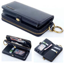 Luxury Zipper Multifunction Flip Leather Wallet Case Cover For Samsung Models