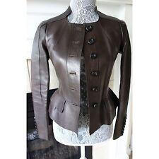 NWT $3995 Burberry Prorsum Lambskin Leather Jacket, Size 36