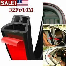 32FT L-Shape Car Door Trunk Seal Strip Rubber Weather Strip Edge Car Accessories