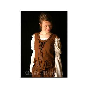 Miederweste aus Baumwolle, Wikinger Mittelalter Weste Mittelalterkleidung