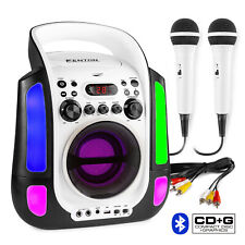 More details for sbs30w karaoke machine speaker, party lights bluetooth microphones cd mp3+g
