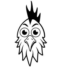 ROOSTER HEAD CAR DECAL STICKER
