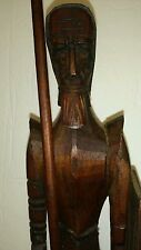 Exquisite Mid Century Carved Wood Don Quixote as Knight 20'' Tall