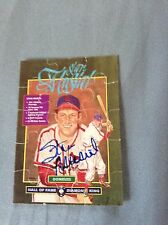 Stan Musial VINTAGE HAND SIGNED 1987 Donruss Puzzle Piece w/COA Stock #004 RARE