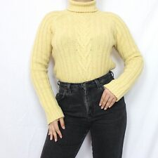 Vintage Willi Smith Lambswool Cable Knit Yellow Sweater