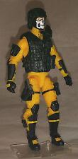 "Marauder Task Force Yellow ""Shock-Ops"" 1:18 scale GI Joe ""type"" Figure with Gear"