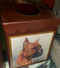 Boxer dog breed designer tissue box cover