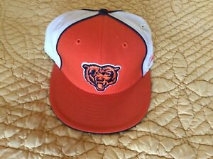 Vintage Reebok NFL Gridiron Classics Chicago Bears Fitted 7 5/8 Hat Brand New