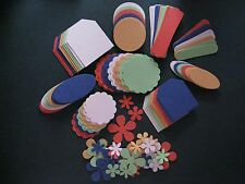 """120pc 2011 RETIRED """"IN COLOR"""" STAMPIN UP CARDSTOCK PUNCH TAGS ~ Style A Flowers"""