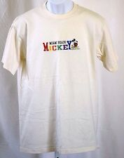 """Mickey Mouse Miami Beach Embroidered Logo Cotton Blend 42"""" Chest T Shirt"""
