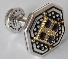Konstantino Men's Octagonal Cufflinks Black Onyx Sterling 18K Gold Achilles New