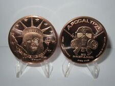 Liberty Z-Note Copper Round Apocalypze Zombie - Lot of 2 Copper Rounds .999