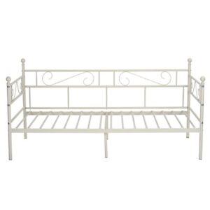 3FT Tagesbett Einzel Metal Sofa Tagesbett Bettgestell Für Schlafzimmer 90x200 cm