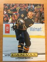 UPPER DECK 2019-2020 SERIES TWO RASMUS DAHLIN CANVAS HOCKEY CARD C-128