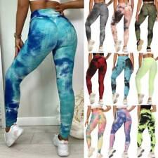 Women High Waist Yoga Pants Leggings Push Up Anti-Cellulite Sports Gym Trousers