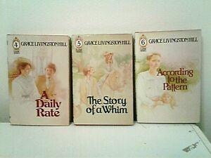 3 vintage historical romances-Grace Livingston Hill-hardcovers/dust jackets