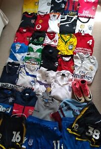 JOB LOT, BUNDLE 33 x items-shirts,some matchworn, player issue items,ADULT sizes