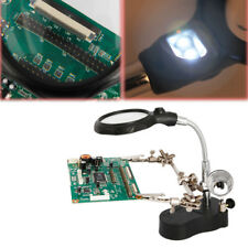 3.5X 12X Hand Soldering Iron Stand Helping Clamp Tool Magnifying Glass Magnifier