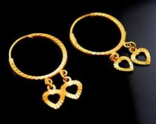 22k Jewelry Solid Gold ELEGANT HOOP EARRINGS MODERN DESIGN E1220