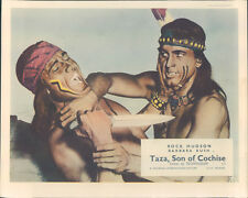 Taza Son Of Cochise original Lobby Card Rock Hudson barechested Rex Reason
