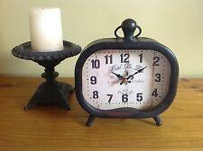 Clock 'HOTEL DE LYS' French Provincial Tin Bronze Antique Vintage Style