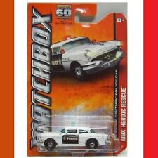 1956 BUICK Century COUNTY POLICE Black & White MBX Heroic Rescue NEW in Pack!