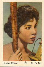DUTCH MOVIE STAR GUM CARDS - No. 034 LESLIE CARON
