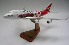 Boeing 747-400 Formel 1 FSX Qantas Flugzeug Schreibtisch Holz Modell Big NEU