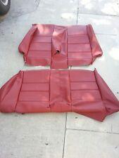 BMW E30 325i 318i REAR SEAT KIT CONVT UPHOLSTERY KIT CARDINAL RED  BEAUTIFUL NEW
