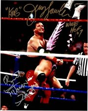 "WWE  HOF JERRY THE KING LAWLER AND BRET ""THE HITMAN"" HART AUTOGRAPHED 8X10"