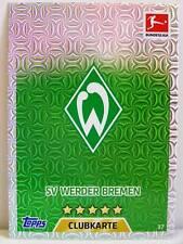 Match Attax 2017/18 Bundesliga - #037 SV Werder Bremen - Club / Wappen