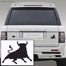 Spagnolo Bull Torro auto finestra / notebook vinile decalcomania ADESIVO 10cm x 8cm BLACK!!!