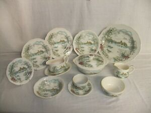 c4 Pottery Alfred Meakin Staffordshire - Queens Castle - vintage tableware 1C3E