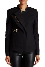 New Thomas Wylde Assymetric Zip Moto Black Blazer Size: 2 SOLD OUT