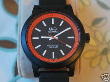 New Q&Q by Citizen Men's Fashion Watch w/Orange Bezel