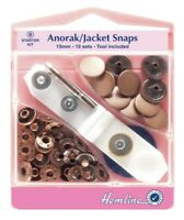 Hemline Sew-On Snap Fastener Press Stud Clear Nylon x 7mm Invisible Sheer Snaps
