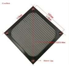 120mm Aluminum Dustproof Filter Dust Grill Guard For PC Cooling Fan Black