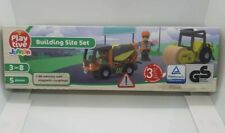 Playtive Junior Wooden Building Site Set for Wooden Rail / Train & Road Sets