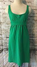Diane Von Furstenberg DVF Sleeveless Darly Dress Size 2 Kelly Green Festival