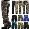 Mens Military Army Combat Pants Camouflage Tactical Casual Work Cargo Trousers