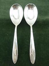 2 nice Carl Mertens German serving Spoons silver plated